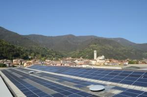 Pannelli solari su capannone industriale 2012